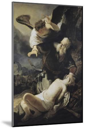 The Sacrifice of Isaac-Rembrandt van Rijn-Mounted Giclee Print