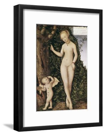 Venus and Cupid with Bee Hive-Lucas Cranach the Elder-Framed Giclee Print