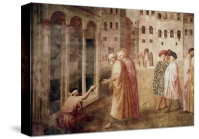 Healing of the Cripple-Masaccio-Stretched Canvas Print