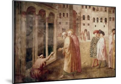 Healing of the Cripple-Masaccio-Mounted Giclee Print