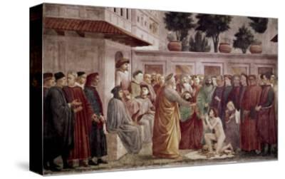 St. Peter Resurrects the Child of Theophilus-Masaccio-Stretched Canvas Print