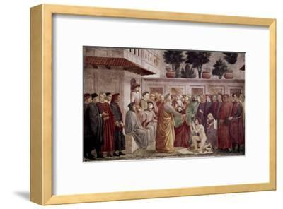 St. Peter Resurrects the Child of Theophilus-Masaccio-Framed Giclee Print