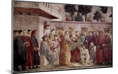 St. Peter Resurrects the Child of Theophilus-Masaccio-Mounted Giclee Print