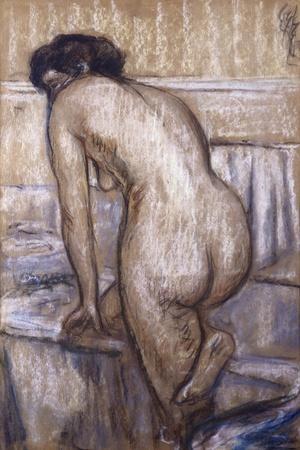 The Bath-Edgar Degas-Stretched Canvas Print