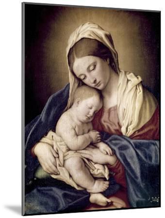 Madonna and Child-Giovanni Battista Salvi da Sassoferrato-Mounted Giclee Print