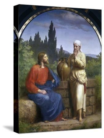Christ and the Woman of Samaria-Anton Laurids Johannes Dorph-Stretched Canvas Print