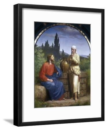 Christ and the Woman of Samaria-Anton Laurids Johannes Dorph-Framed Giclee Print