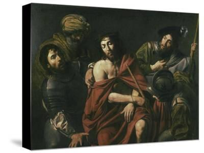 Jesus Insulted by the Soldiers-Jean Valentin De Boulogn-Stretched Canvas Print