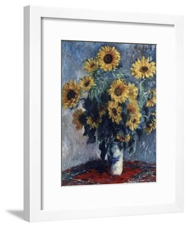 Sunflowers-Claude Monet-Framed Giclee Print