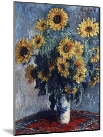 Sunflowers-Claude Monet-Mounted Giclee Print