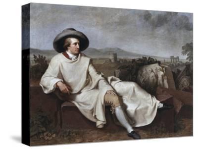 Portrait of Goethe-Johann Friedrich August Tischbein-Stretched Canvas Print
