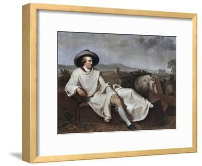 Portrait of Goethe-Johann Friedrich August Tischbein-Framed Giclee Print