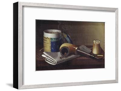 Smoking Scene-William Michael Harnett-Framed Giclee Print