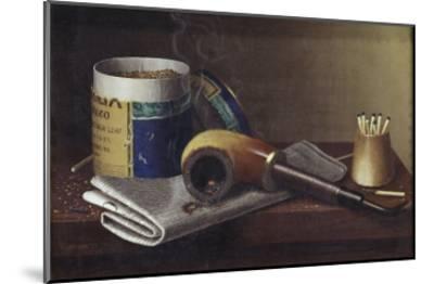 Smoking Scene-William Michael Harnett-Mounted Giclee Print