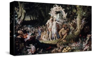 Oberon and Titania: Midsummer Night's Dream-Joseph Noel Paton-Stretched Canvas Print