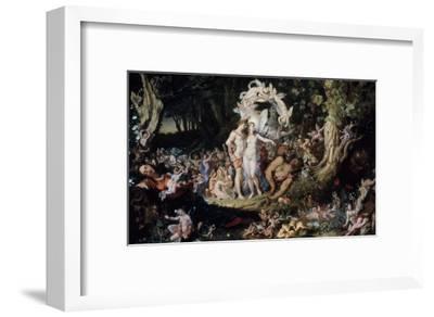 Oberon and Titania: Midsummer Night's Dream-Joseph Noel Paton-Framed Giclee Print