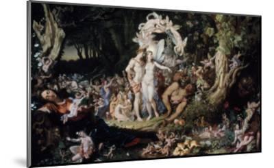 Oberon and Titania: Midsummer Night's Dream-Joseph Noel Paton-Mounted Giclee Print