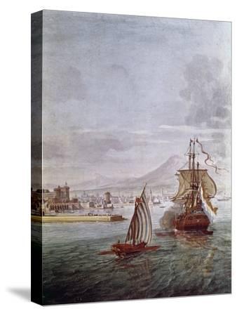 Port of Naples- Vanvitelli (Gaspar van Wittel)-Stretched Canvas Print
