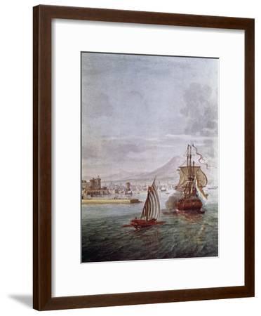 Port of Naples- Vanvitelli (Gaspar van Wittel)-Framed Giclee Print