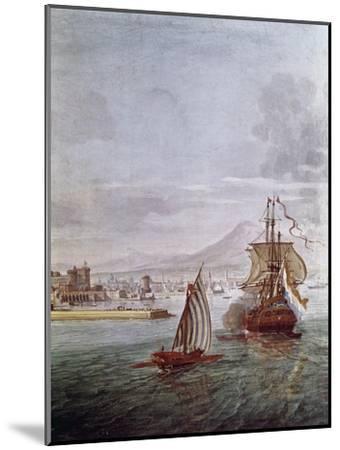 Port of Naples- Vanvitelli (Gaspar van Wittel)-Mounted Giclee Print