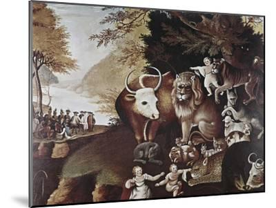 The Peaceable Kingdom-Edward Hicks-Mounted Giclee Print