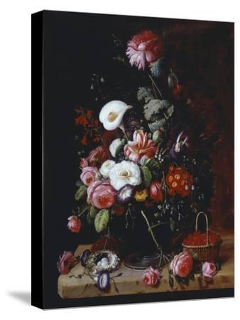 Floral Still Life-Severin Roesen-Stretched Canvas Print