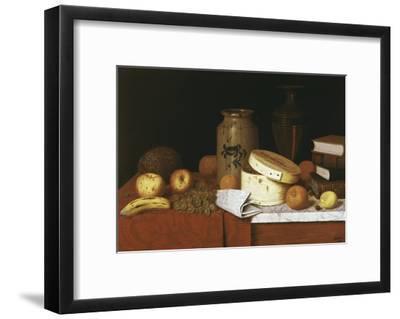 Eleame Figs and Newspaper-William Michael Harnett-Framed Giclee Print