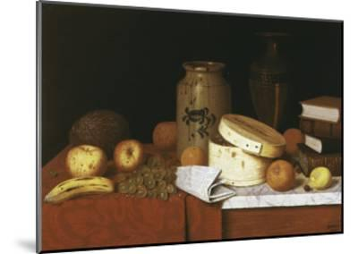 Eleame Figs and Newspaper-William Michael Harnett-Mounted Giclee Print