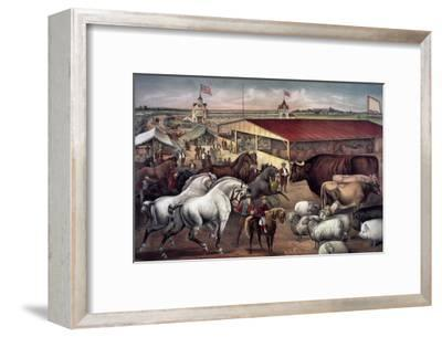 Sights at the Fair Ground-Currier & Ives-Framed Giclee Print
