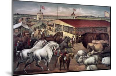 Sights at the Fair Ground-Currier & Ives-Mounted Giclee Print