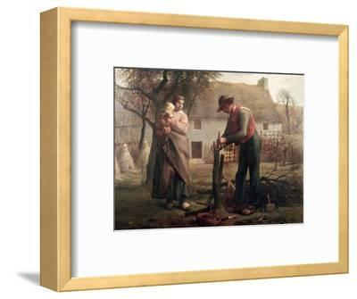 Peasant Grafting a Tree-Jean-Fran?ois Millet-Framed Premium Giclee Print