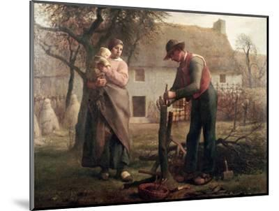 Peasant Grafting a Tree-Jean-Fran?ois Millet-Mounted Premium Giclee Print