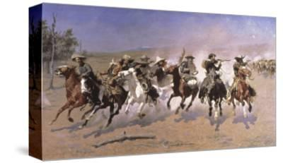 Dash For the Timber-Frederic Sackrider Remington-Stretched Canvas Print
