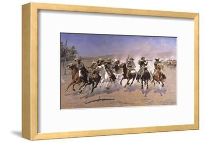 Dash For the Timber-Frederic Sackrider Remington-Framed Giclee Print