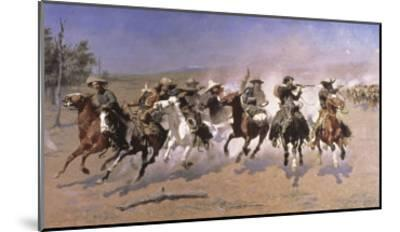 Dash For the Timber-Frederic Sackrider Remington-Mounted Giclee Print