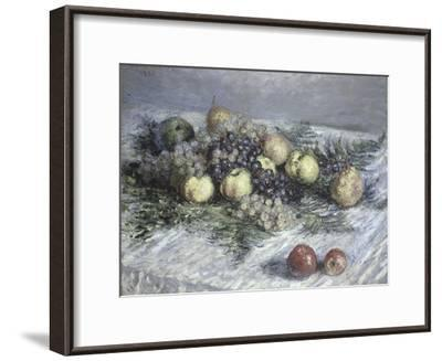Still Life with Pears and Grapes-Claude Monet-Framed Giclee Print