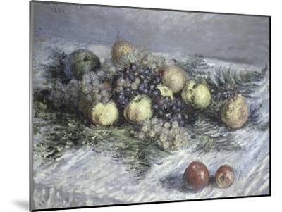 Still Life with Pears and Grapes-Claude Monet-Mounted Giclee Print