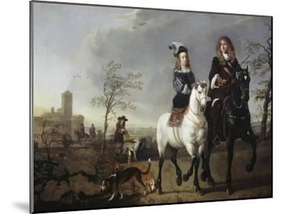 Lady and Gentleman on Horseback-Aelbert Cuyp-Mounted Giclee Print