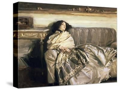 Repose-John Singer Sargent-Stretched Canvas Print