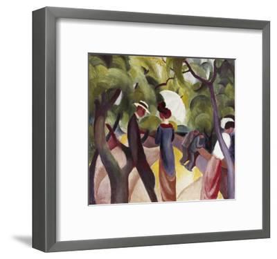 Promenade-Auguste Macke-Framed Giclee Print