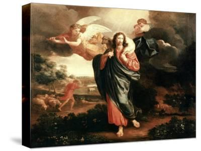 The Good Shepherd-Philippe De Champaigne-Stretched Canvas Print
