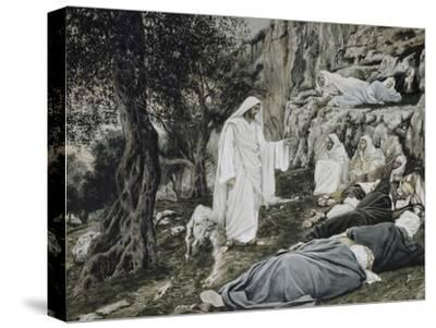Jesus Commands His Disciples to Rest-James Tissot-Stretched Canvas Print