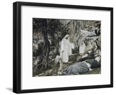 Jesus Commands His Disciples to Rest-James Tissot-Framed Giclee Print
