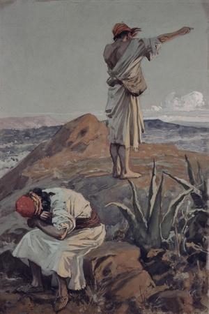 Elijah from Mt Carmel Sees a Cloud Afar Off-James Tissot-Stretched Canvas Print
