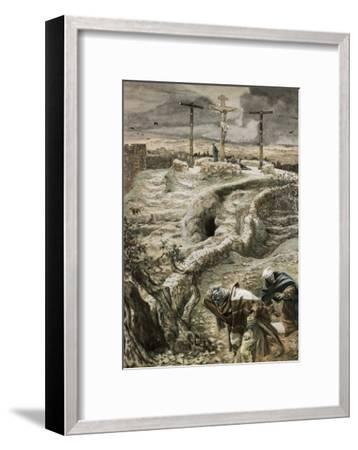 Jesus Alone on the Cross-James Tissot-Framed Giclee Print