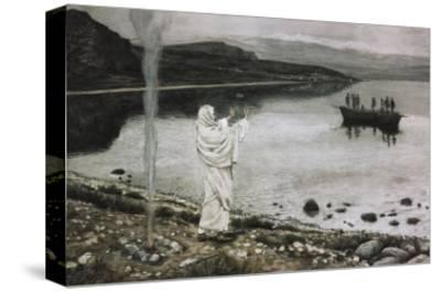Christ Appears on the Borders of the Tiberius Sea-James Tissot-Stretched Canvas Print