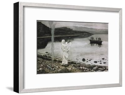 Christ Appears on the Borders of the Tiberius Sea-James Tissot-Framed Giclee Print