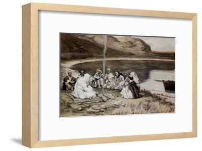 Christ Eating with His Disciples-James Tissot-Framed Giclee Print