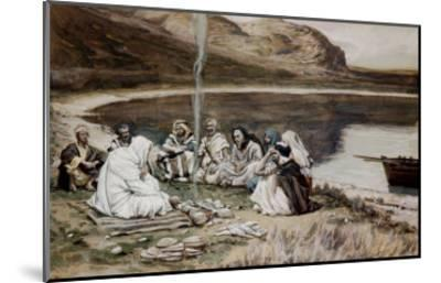 Christ Eating with His Disciples-James Tissot-Mounted Giclee Print
