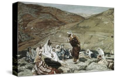 Lawyer Standing Up and Tempting Jesus-James Tissot-Stretched Canvas Print